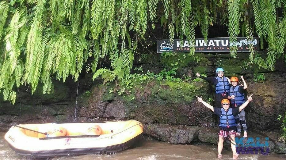 Spot Foto Instagramable di Kaliwatu Rafting